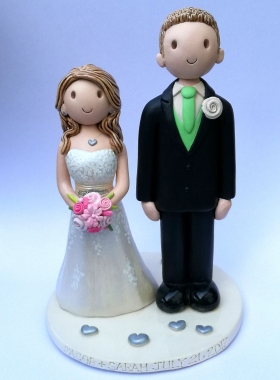 Tall groom and short bride