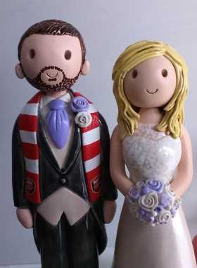 Football scarf groom