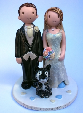 Pottery cake topper