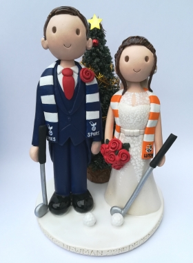 Golf Christmas cake topper