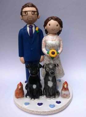 Chicken cake topper