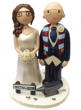 Gretna Green Wedding Cake Topper