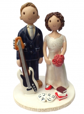 Musician Actress Wedding Cake Topper