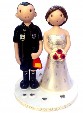 Football Referee Cake Topper