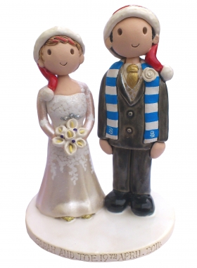 Christmas Wedding Cake Topper