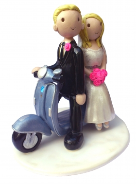 Scooter Wedding Cake Topper