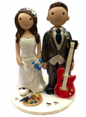 Musician And Artist Cake Topper