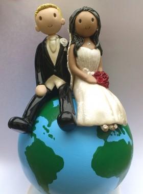 Globe Wedding Topper