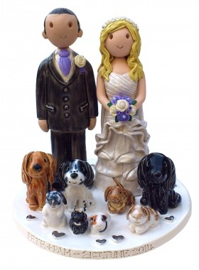 Pet Wedding Cake Top