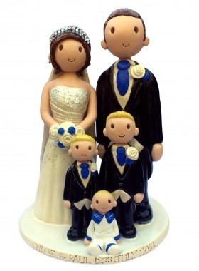 Family Wedding Cake Topper