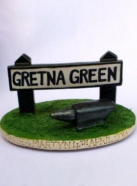 Gretna Green Cake Topper