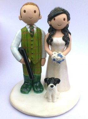 Shooting Theme Cake Topper