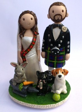Pet Wedding Cake Topper