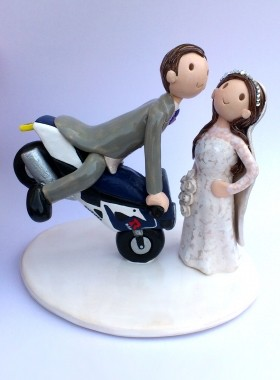 Motorbike Wedding Topper
