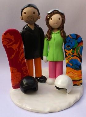 Snowboarding Cake Topper