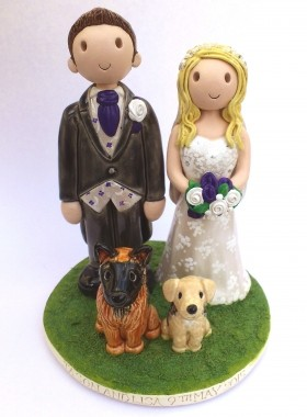 Wedding Topper With Pets