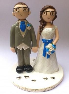 Glasses Wedding Cake Topper