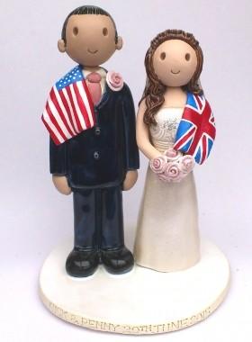 Flag Wedding Cake Topper