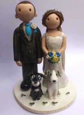 Bride Dragging Groom Cake Topper