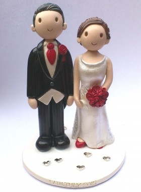 Traditional Bride And Groom Cake Top