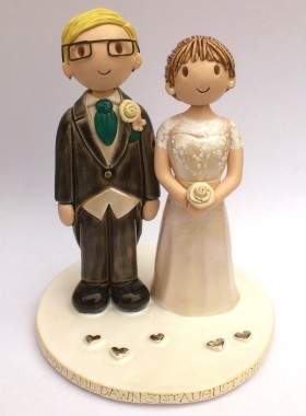 Groom With Glasses Cake Topper