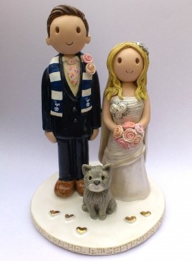 wedding cake toppers cats uk wedding cake toppers gallery made personalised cake 26435