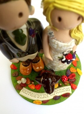 Autumnal Cake Topper