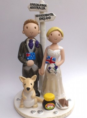 Australian And UK Cake Topper