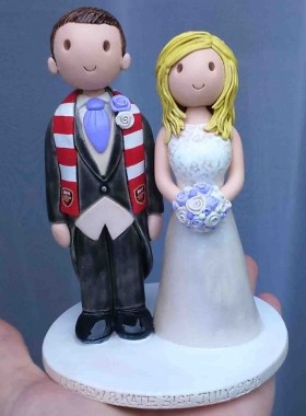 Football scarf cake topper