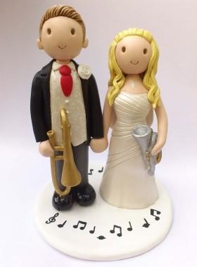 Musician cake topper