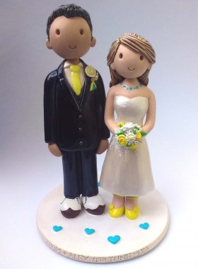 Yellow and turquiose wedding