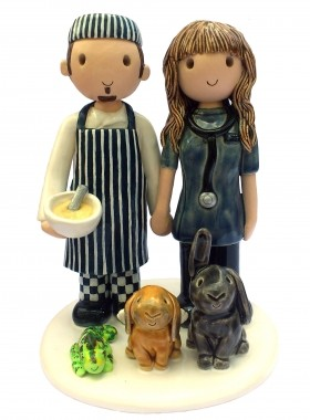 Chef And Vet Cake Topper