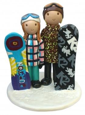 Snowboard Cake Topper
