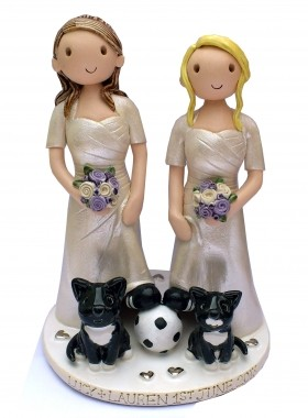 Civil Partnership Cake Topper