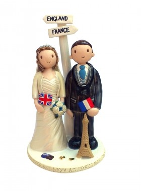 French Theme Cake Topper