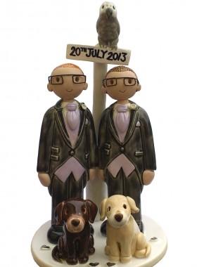 Civil Partnership Cake Topper