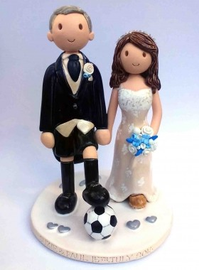Football Wedding Topper