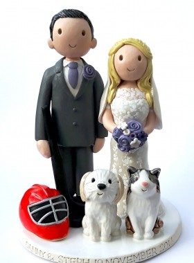 Ice Hockey Wedding Topper