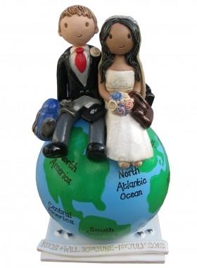Globe Cake Topper